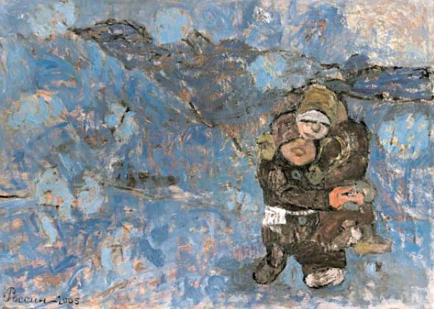 Snowstorm.2005. Oil on canvas. 141х197