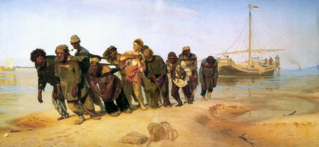 Ilya Repin. Barge Haulers on the Volga. Oil on canvas. State Russian Museum