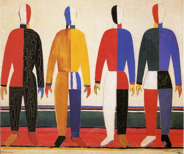 Kazimir Malrvich. The sportsmen. 1930-1931. Oil on canvas. State Russian Museum
