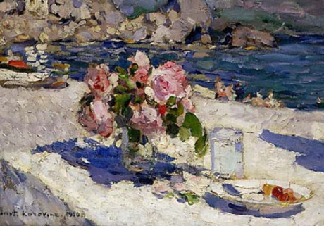 Konstantin Korovin (1861–1939). On the Sea Shore. 1910. Oil on canvas. 46.5 x 77