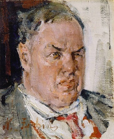 Portrait of the David Burliuk. Sketch. 1923. Oil on canvas. 40х32.5