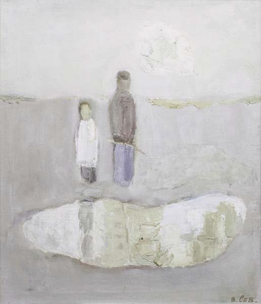 Fishermen. Small Lake. 1999. Oil on canvas. 65 x 55