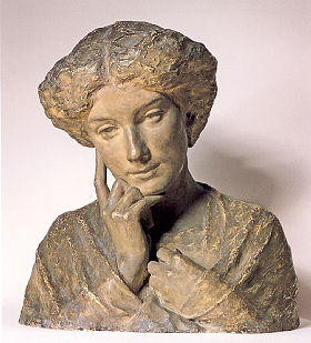 Dreams. 1909. Bust. Plaster tinted. 46x41x34