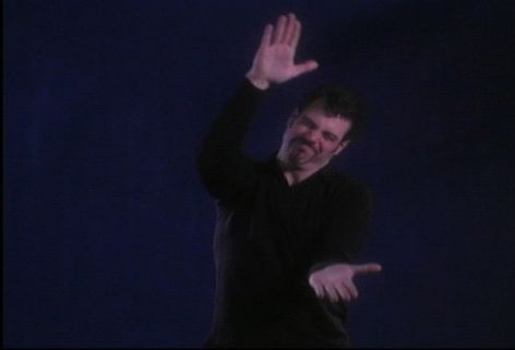 Christian Marclay. Mixed reviews (American Sign Language). 1999–2001. Video, color, silent. 30 minutes.