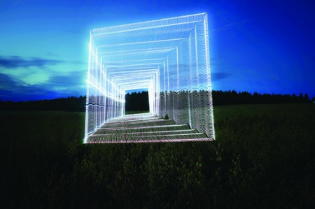 "1. Severin Infante, Sofia Infante. From the Series ""Practice of Light"". 2009. Photography light installation. 90х120"