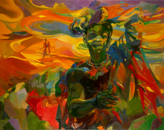 Ruth Baumgarte. His Land. 1997. Oil on canvas. 120 x 150 cm