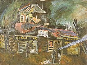 Landscape with the Stove. 1970. Oil on canvas. 70x100
