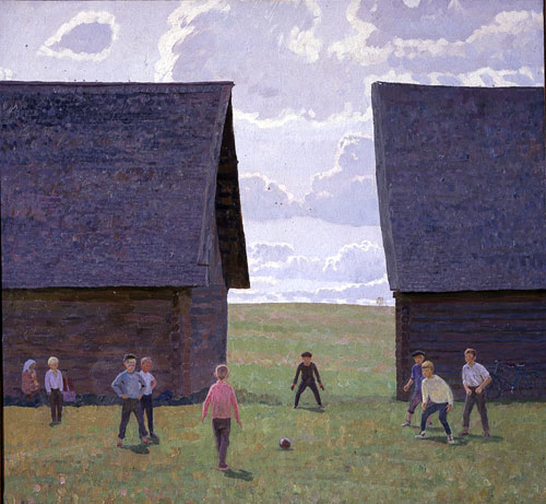 Near the Old Sheds. 1975. Oil on canvas. The Russian Museum.