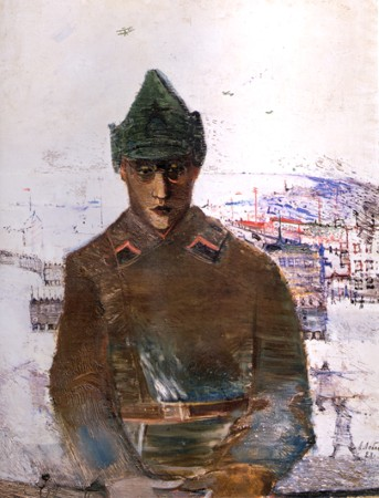 In the Far East. Soldier of the Red Army. 1928. Oil on canvas. 98х78