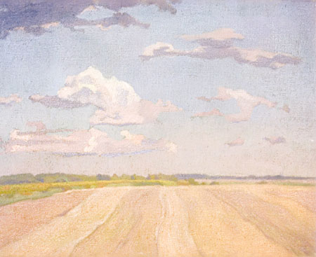 The Steppe. 1899–1900. Sketch. Pastel on canvas. 55.5x68.