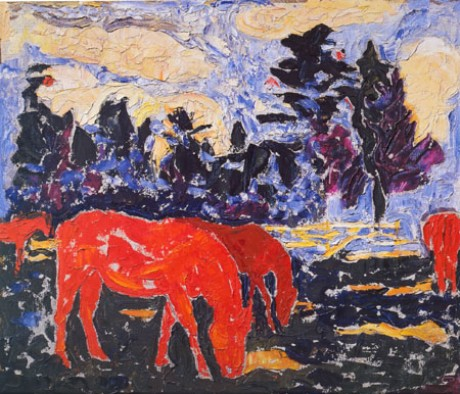 The Horses. 1999. Oil on fibreboard. 61x68.