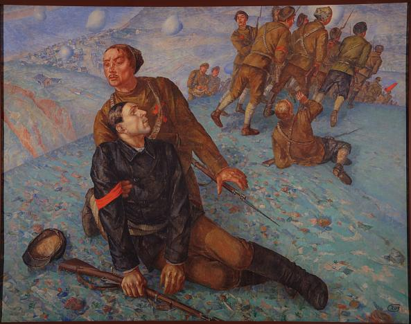 Kuzma Petrov-Vodkin. Death of a Commissar