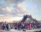 Atkinson J.A. Tobogganing on the Neva.1792. Oil on canvas. 81x107