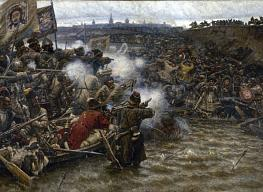 Vasily Surikov. Conquest of Siberia by Ermak