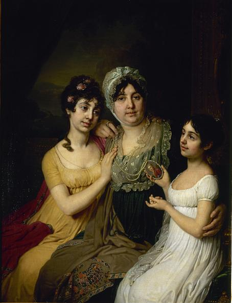 Vladimir Borovikovsky. Portrait of Countess Anna Bezborodko with her Daughters Lyubov and Cleopatra