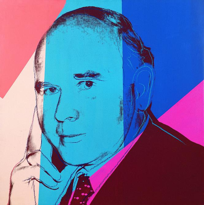 Andy Warhol Portrait of Peter Ludwig. 1980. Silkscreen on canvas