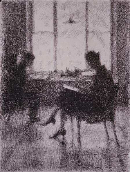 Georgy Vereisky. At the Window
