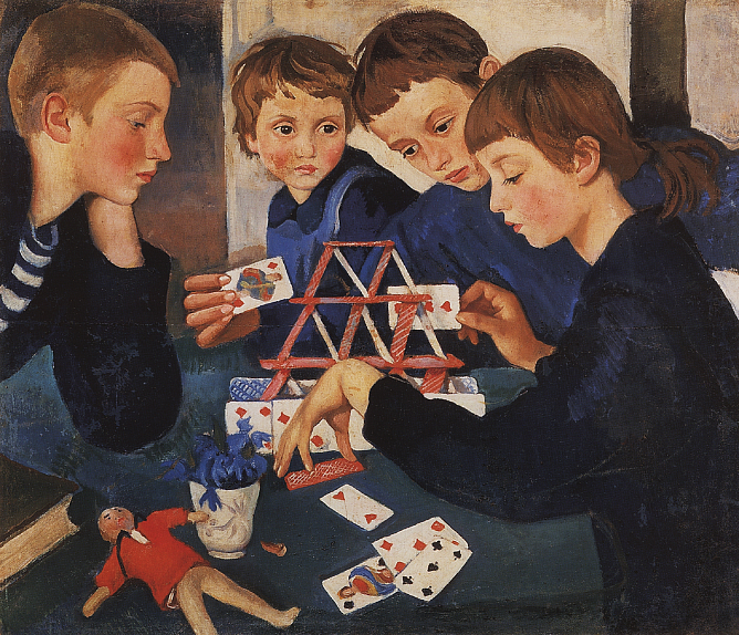 Zinaida Serebriakova. House of Cards. 1919. Oil on canvas. State Russian Museum