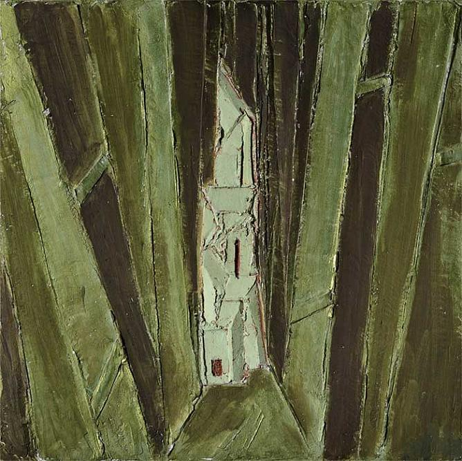 Tower in Forest. 2009. 73x73.