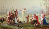 F. Bronnikov. Consecration of the Herm. 1869. Oil on canvas. The State Russian Museum