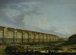 Unknown painter. The Twelve Colleges Building in St.Petersburg