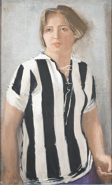 Alexander Samokhvalov. Girl in a Football Jersey