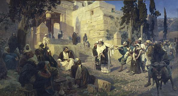 Vasily Polenov.  Christ and the Sinner woman