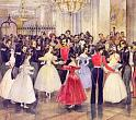 G. Gagarin. A Ball at M.Baryatinskaya Princess. 1834. Water color, gouache, lacquer, Indian ink on paper. 16x18.4