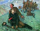 K. Petrov-Vodkin. Death of a Commissar. 1928. Oil on canvas, 196 х 248. The State Russian Museum