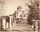 Konstantin Kolpakcheev (Kolpakchi). St. Vladimir's Cathedral and lane with ancient columns in the garden of Chersonese Monastery. 1880's.  Albumen print