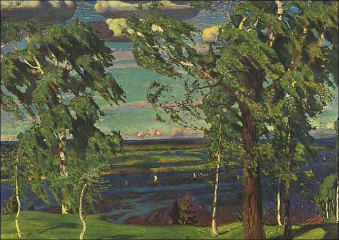 Arkady Rylov. Green noise. 1904. Oil on canvas. Russian Museum