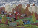 N. Fomin. Autumn in Izborsk. 2012. Oil on canvas. 90 х 120