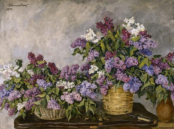 Pyotr Konchalovsky. A Still-Life. Lilac in Two Baskets