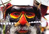 "Colorful Warrior. Papua New Guinea. "". Giclee, canvas. 40x60"