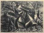 Ernst Barlach. To the Goodly Soul This Glass! Woodcut. 1927. EBG, Ratzeburg