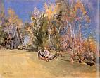 Autumn. Ostrovki.1912. Oil on canvas.67x87.5