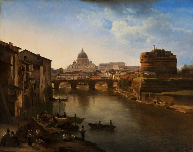 Sylvester Schedrin. New Rome. Castle St.Angelo. 1823 (?). Oil on canvas. 47 x 60. The State Russian Museum.