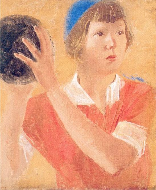 Alexander Samokhvalov. Girl with ball. 1933. Tempera on canvas. State Russian Museum