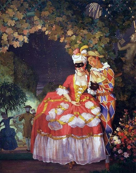 K. A. Somov. Harlequin and Lady. 1921