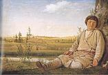 Alexei VENETSIANOV Sleeping Shepherd Boy Between 1823 and 1826 Oil on wood. 27.5 x 36.5