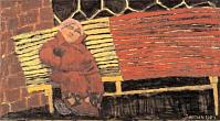 Bench. 1984. Oil on canvas.88х160