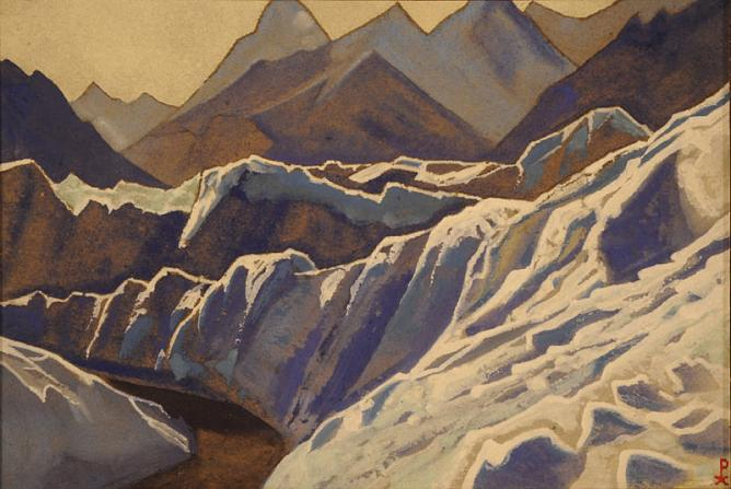 N. K. Roerich. Himalayas (ce-Covered Slopes). 1938