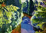 Arkady Rylov. Forest river. 1929. Oil on canvas. Russian Museum