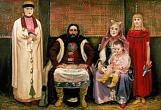 A.Ryabushkin. Merchant and His Family in the 17th Century. Oil on canvas. 143 x 213