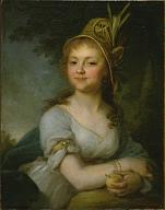 Vladimir Borovikovsky. Portrait of Yekaterina Arsenieva, Pupil at the Smolny Finishing School