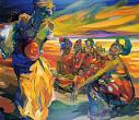 Ruth Baumgarte. African Vision. 1999. Oil on canvas. 120 x 140 cm