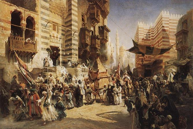 K. Makovsky. The handing over of the Sacred Carpet in Cairo. 1876. The State Russian Museum