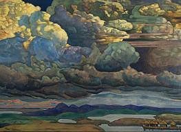 Nicholai Roerich. Battle in the Heavens. 1912