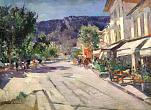 Konstantin Korovin. Street in Yalta. Second half of 1910's. Oil on canvas. 58,5×79,5.