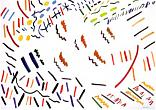 "Yuri Zlotnikov. From the Series ""Abstraction"". 1990. Gouache on paper. 60x86"